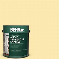 behr premium plus ultra 1 gal icc 90 butter yellow gloss enamel exterior paint 585001