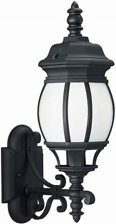 seagull 89102en3 12 wynfield traditional black led exterior wall light fixture sgl 89102en3 12