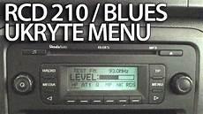 ukryte menu diagnostyczne vw rcd 210 skoda blues radio