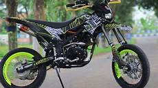 Modifikasi Klx Supermoto by Modifikasi Kawasaki Klx Bergaya Supermoto Part 2