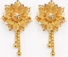 fashion fun new gold bridal earrings designs 2013 14