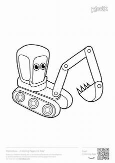 Malvorlagen Kinder Bagger Excavator Coloring Pages To And Print For Free