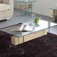 Table Basse Verre Et Bois Table Basse En Verre Design