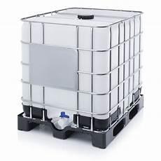 1000 liter ibc met kunststof pallet en un keurmerk