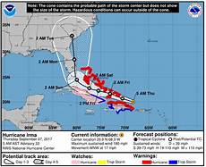 updated hurricane irma forecast as of september 7 at 5 a m