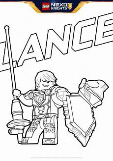 lego lance with lance nexo shield to print and