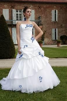 Robes 233 L 233 Gantes Robe Mariage Bleu Et Blanc