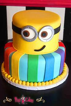 2 tier cake birthday boy minion dispicable me minions