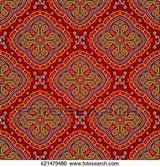 clipart vektor hell seamless indische muster