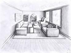 Fluchtpunkt Zeichnen Zimmer - 1 point perspective room free large images