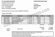 contoh faktur penjualan barang xls contoh faktur penjualan tunai dalam format excel