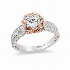enchanted disney 1 1 4 ct t w diamond rose frame