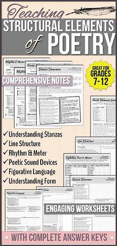 poetry elements worksheets 25266 278 best images about general teaching resources on the fly student and