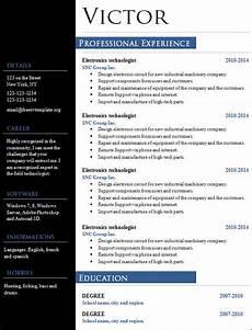 free sle creative resume templates in doc