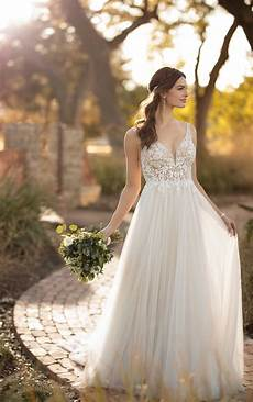 picture of wedding gown sheer beaded wedding dress essense of australia
