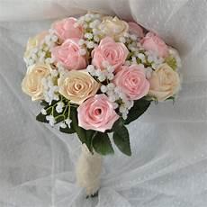 brides bouquet handmade satin flowers 2 coulour