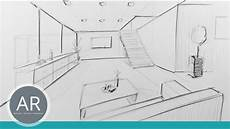 Fluchtpunkt Zeichnen Zimmer - raum in zentral perspektive innenarchitektur zeichnungen