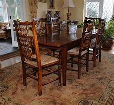 Kitchen Tables Furniture Oak Kitchen Dining Set Refectory Table Spindleback Chairs
