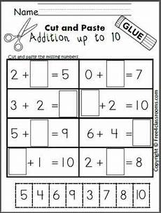 cut and paste subtraction worksheets for kindergarten 10497 pin on