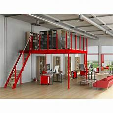 Mezzanine En Metal Tm 15 Mezzanine With M Stairs Mezzaninesonline