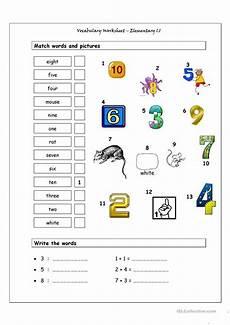 vocabulary matching worksheet elementary 1 1 worksheet