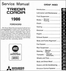 online car repair manuals free 1986 mitsubishi tredia seat position control 1986 mitsubishi cordia tredia repair shop manual original