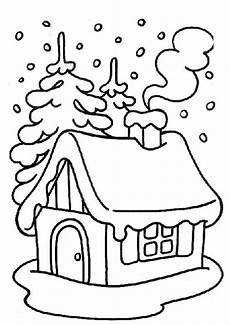Malvorlage Haus Mit Schnee Haus Im Schnee Malvorlage Coloring And Malvorlagan