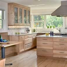Kitchen Backsplash Ideas With Birch Cabinets by Contemporary Birch Cabinet Kitchen Design Ideas Remodels