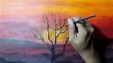 Cara Melukis Sunset