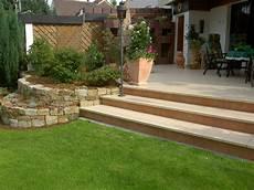 Terrasse Steinmauer Steinmauer Garten Garten Und Garten