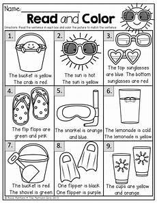 color review worksheets for preschool 12881 summer review no prep kindergarten simple sentences sentences and summer