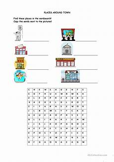 places around town worksheets 16029 places around town worksheet free esl printable worksheets made by teachers