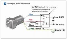 how to connect a reversing switch to a 3 or 4 wire psc gearmotor bodine electric gearmotor blog