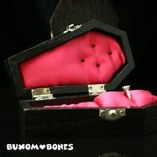gothic wedding coffin jewelry box halloween wedding casket coffin box engagement