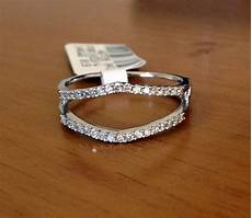 wedding bands for solitaire rings solitaire enhancer diamonds ring guard wrap 14k white gold