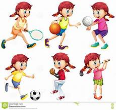 Doing Different Type Of Sports Stock Vector