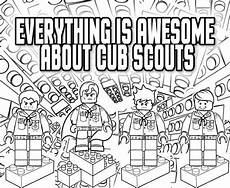 everything is awesome coloring page akela s council cub scout leader training everything is awesome about cub scouts lego