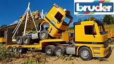 rc bruder truck total crash
