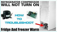 refrigerator compressor will not turn lights and fans work us3