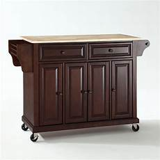 kitchen islands and carts furniture wood top kitchen cart island in vintage mahogany