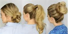 Easy Five Minute Hairstyles 3 easy 5 minute hairstyles