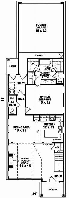 house plans for narrow lots on lake fontana park narrow lot home plan 087d 0088 house plans