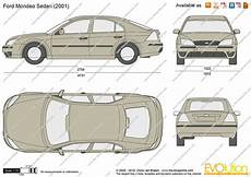 The Blueprints Vector Drawing Ford Mondeo Sedan V2