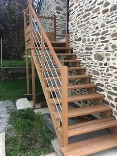 Extérieur Bois Escalier Bois Ext 233 Rieur Menuiserie Rouxel Malansac