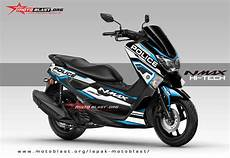 Modifikasi Stiker Nmax by Modifikasi Striping Yamaha Nmax Black Hitech V2