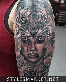 tiger tatoo design on shoulder only styles