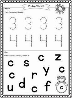 preschool summer packet pre k summer review homework by