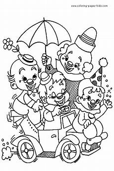 clown coloring pages activity for the kids circus bday