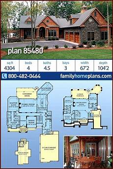 house plans walkout basement hillside craftsman style house plan with 4 bedrooms and 4 5