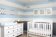 Kinderzimmer Blau Grau - baby boy striped nursery how to nest for less
